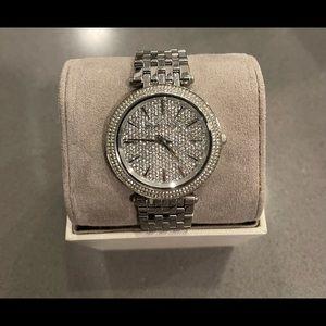Michael Kors Darci Silver Crystal Watch